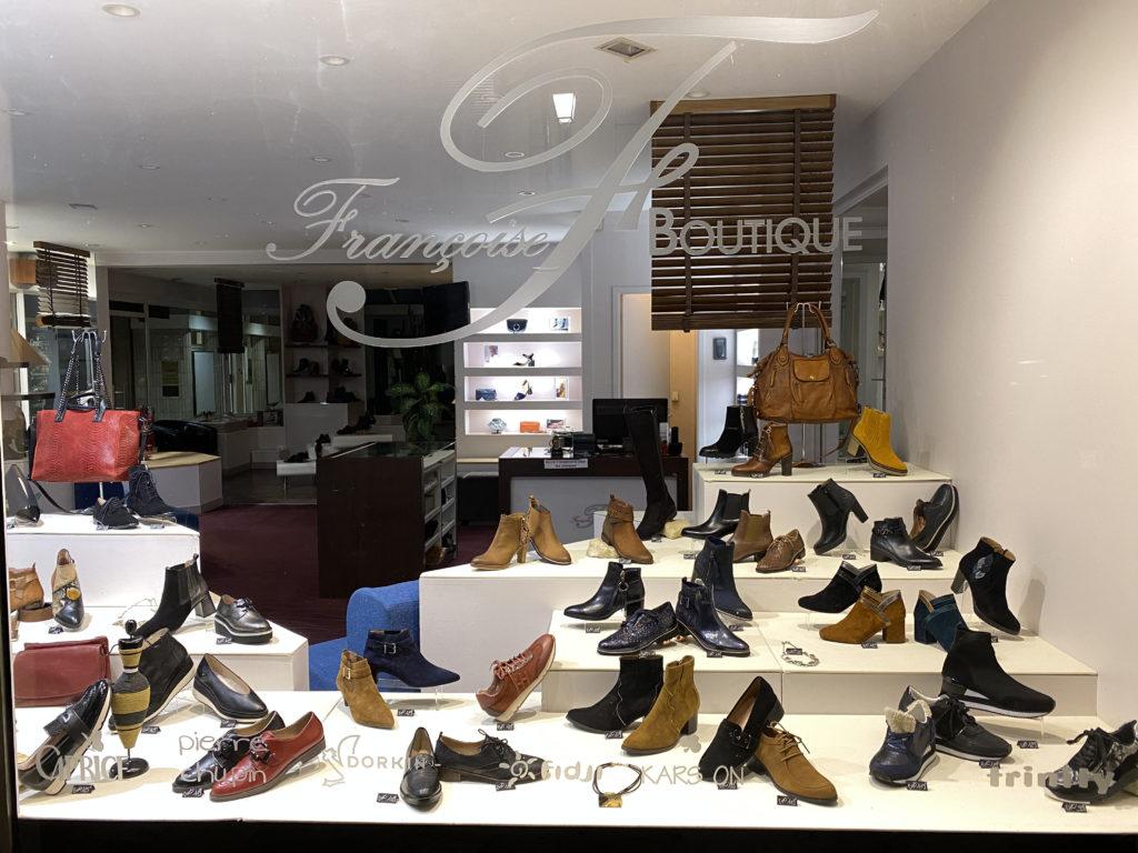 Vitrine chaussures femme